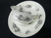NOW SOLD MINTON bat printed cup & saucer c1830